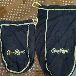 🥃Crown Royal Black Bags 1 Large and 1 Small